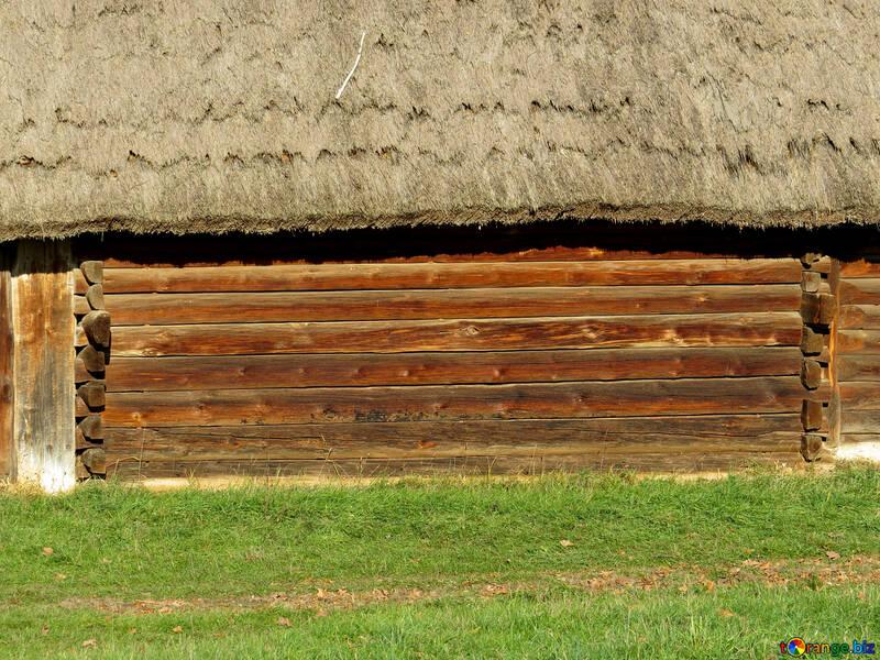 Текстура стена деревянного дома №28577