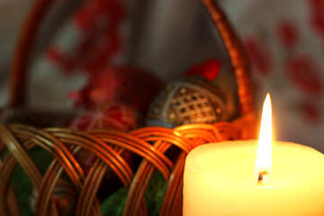 Osternest und Kerze №29677