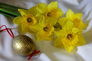 Easter bouquet of daffodils №29985