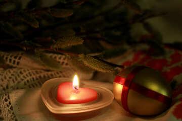 Ostern-Abend bei Kerzenschein №29536