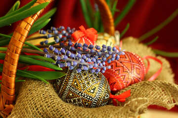 Easter eggs and flowers №29758