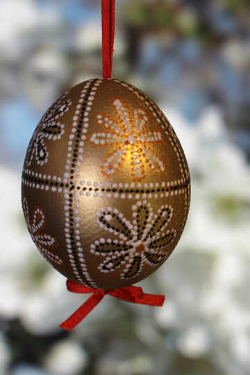 Beautiful painted Easter №29343