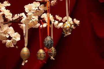 Easter eggs on flowering branch №29847