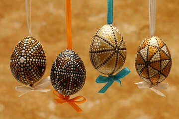 Background with Easter eggs №29796