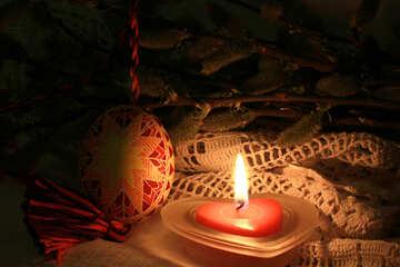 Kerze, Weiden und Osterei №29525