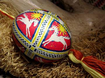 Узор на пасхальном яйце лошади №29399