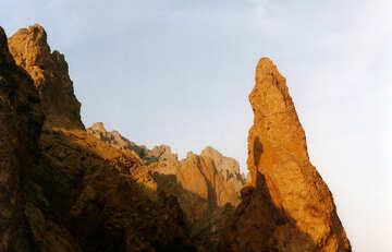 Berge bei Sonnenuntergang №29209