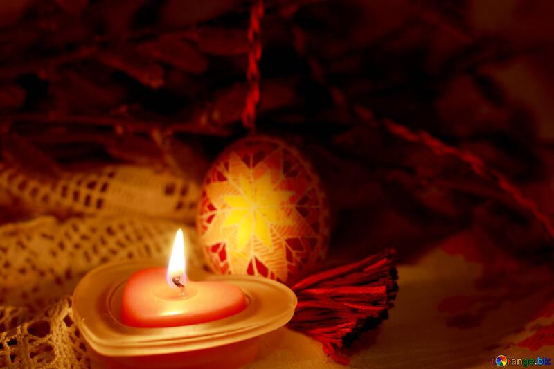 Candle and Pysanka №29531