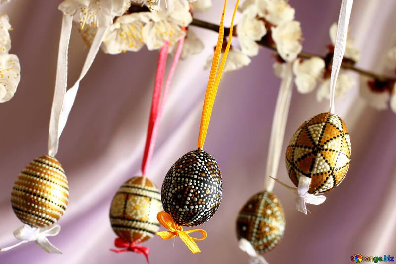 Фарбовані Великодні яйця №29822