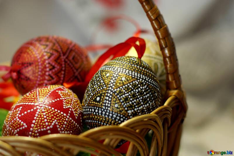 Basket of Easter eggs №29683