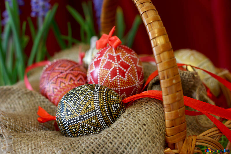 Easter Eggs in basket №29759