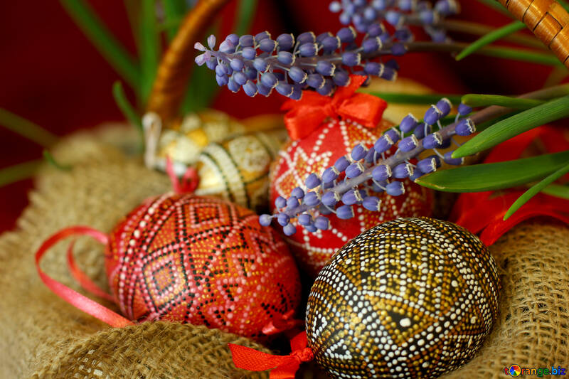 Spring flowers and easter eggs №29757