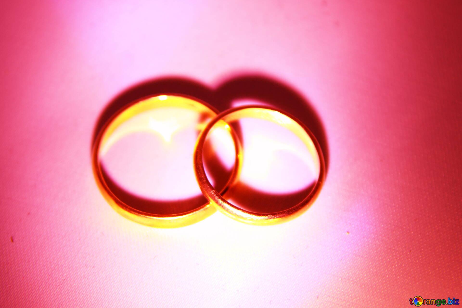 Gold rings weddings ring № 3659