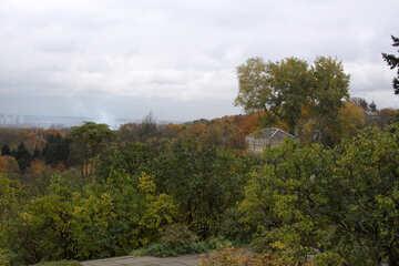 Kiev colline in autunno fogliame autunno  №3328