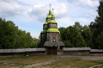Wooden Church Rus . №3121