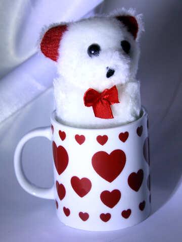 Tazza con i cuori. Un regalo per gli impiegati il giorno del biglietto di S. Valentino della st. №3601