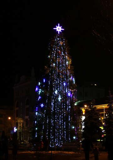 Urban christmas tree  №3399