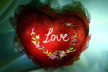 Decorative  cushion   form  Heart №3621