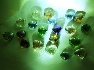 Multi-colored bits of glass №3662