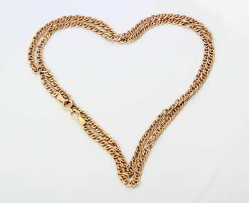 Gold chain in the form of heart. №3571