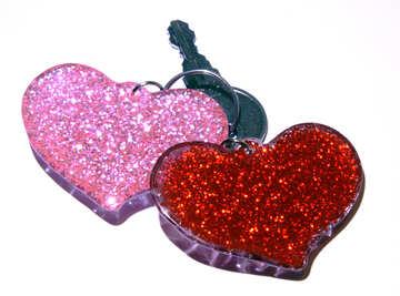 hearts with key  №3419