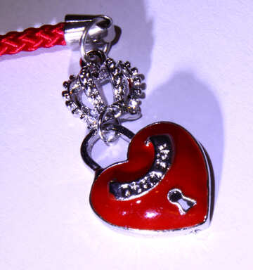 Heart with lock  №3427