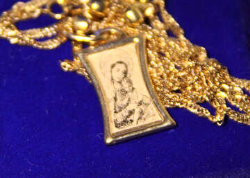 Gold Pendant Virgin Mary (the Virgin and Child)