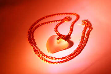 Pendant heart. A gift for Valentine`s Day №3582