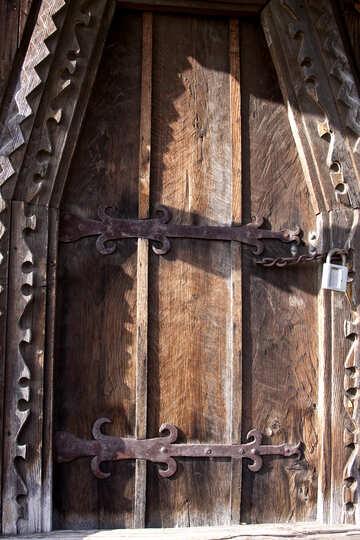 Ancient Russian front door  №3174