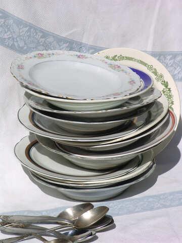 Net dishes for dinner №3032