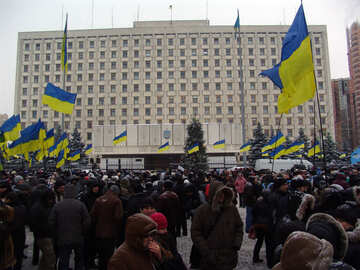 Central Election Commission is surrounded by supporters of Yanukovich №3552