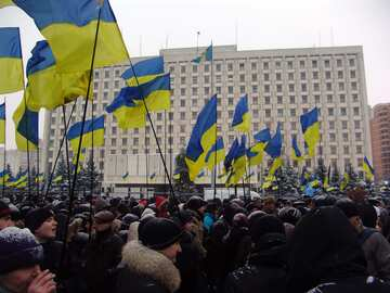 Rally of supporters of Yanukovych at Fairgrounds №3547