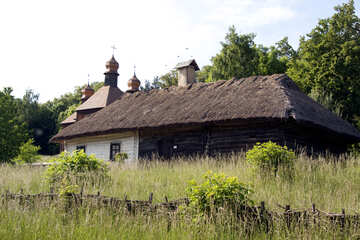 old village hut hut  №3296