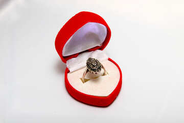Ring in gift box. №3561