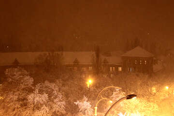 Nacht Stadt in Winter №3465