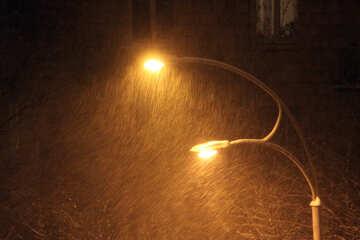 Night snowfall  №3434