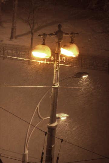 lantern in snow  №3493