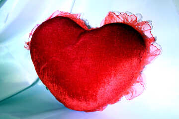 Heart-shaped pillow №3622