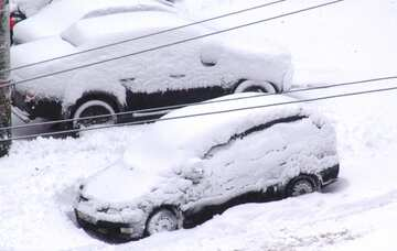 Cars covered with snow №3401