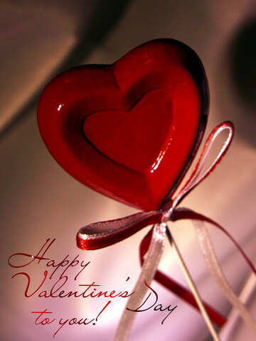 Greeting Card Happy Valentine`s