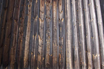 Texture of very old wooden wall  №3162