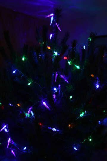 Christmas tree in garlands №3947