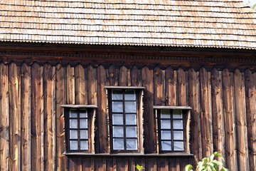 Old House roof windows  №3158