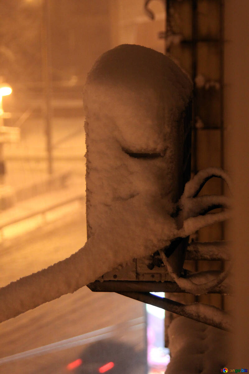 Air-conditioning in the snow at night  №3471