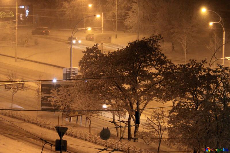 Night blizzard №3461