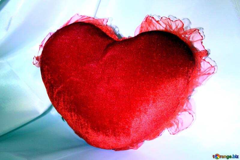 Heart-shaped pillow №3622