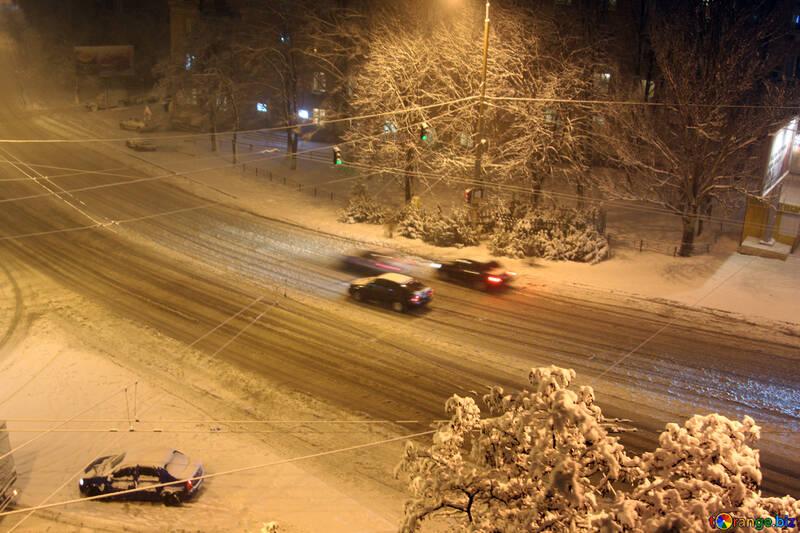 Night road to snow №3453