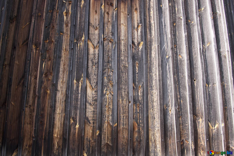 Struttura di molto vecchio di legno parete  №3162