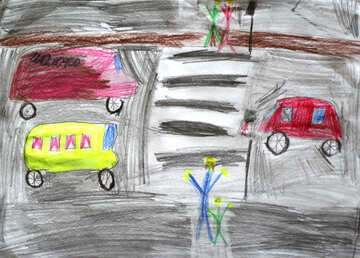 Children`s picture about the rules of the road №30468