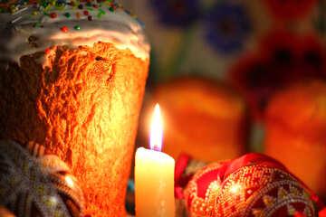 Uova di Pasqua e lume di candela №30088